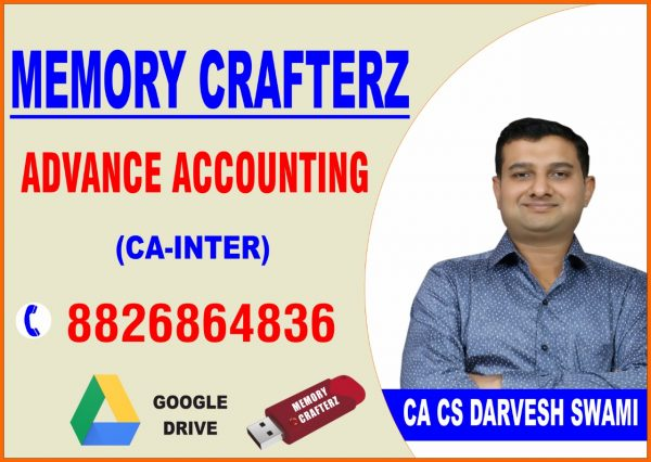 CA Inter Advance Accounting Pendrive Course & Online Classes