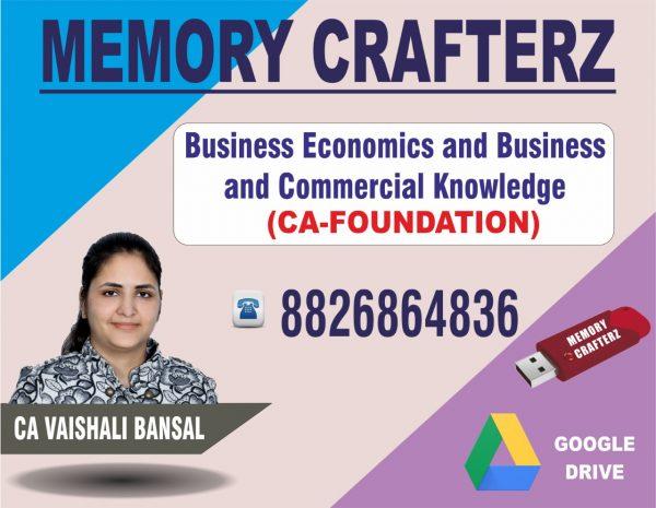 CA Foundation Economics Pendrive Course & Online Classes