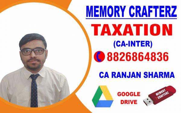 CA Inter Taxation Pendrive Course & Online Classes